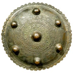 An Early 20th Century Sumatran Brass 'Peurise Awe' Buckler / Shield, Circa 1900