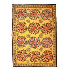 Early 20th Century Suzani from Samarkand, Uzbekistan, Central Asia