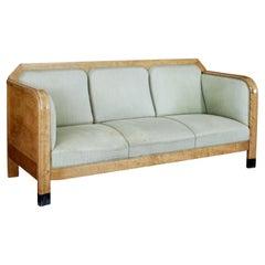 Early 20th Century Swedish Birch Sofa