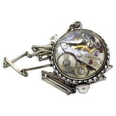 Early 20th Century Switzerland Bucherer Clock Necklace
