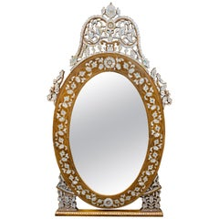 Early 20th Century Syrian Mother of Pearl Inlaid Mirror