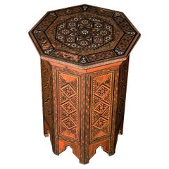 Early 20th Century Syrian Mother of Pearl Side Table