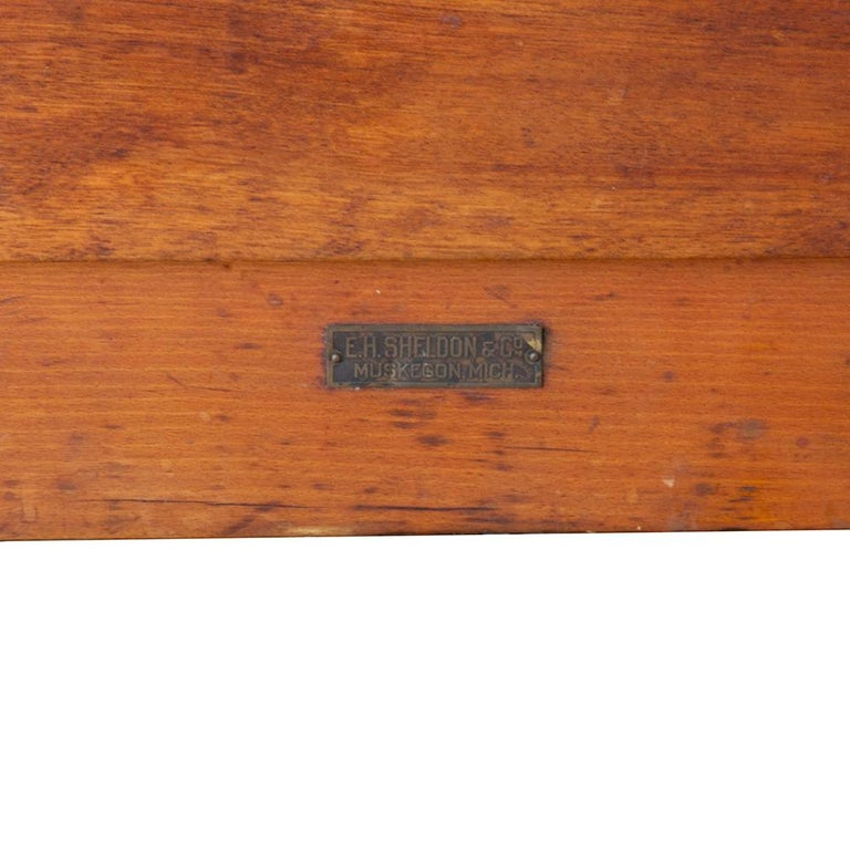Industrial Early 20th Century Tandem Lab Desk For Sale