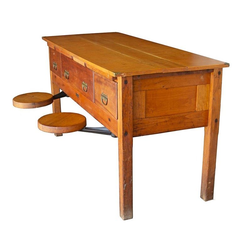 Early 20th Century Tandem Lab Desk For Sale 3