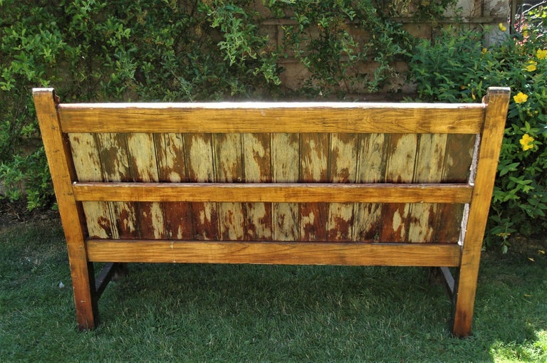 Early 20th Century Teak Ship S Bench From Hms Defiance For