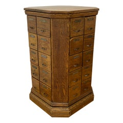 Early 20th Century Tennessee Oak Hardware Cabinet, circa 1910