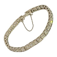 Early 20th Century Tennis Bracelet from 1920, 40 Diamonds, 8 Carat in Total