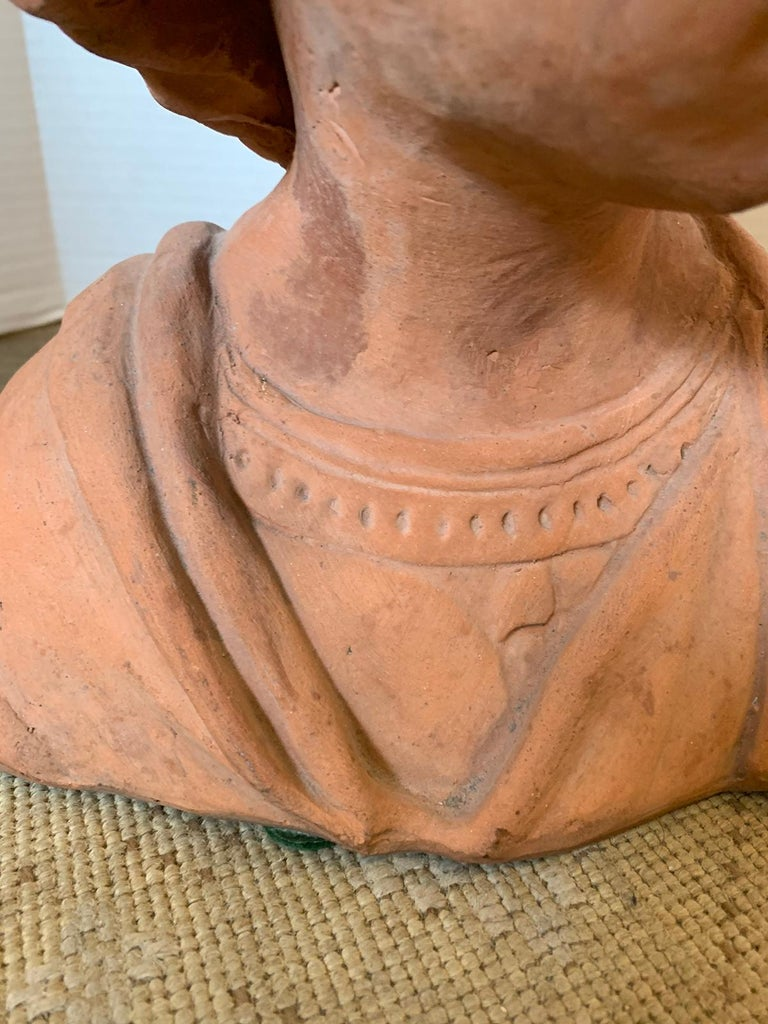 Early 20th Century Terracotta Bust of Child For Sale 8