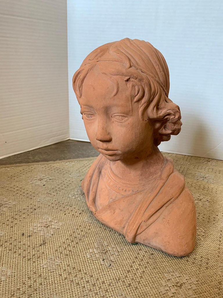 Early 20th Century Terracotta Bust of Child For Sale 2