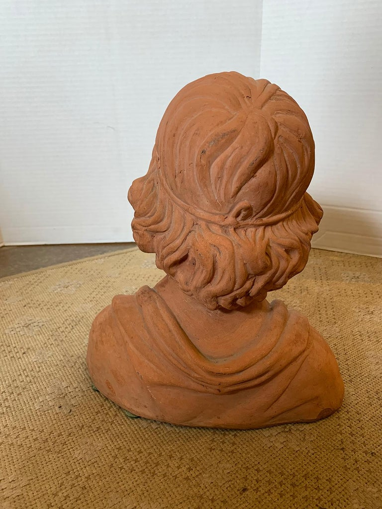Early 20th Century Terracotta Bust of Child For Sale 4