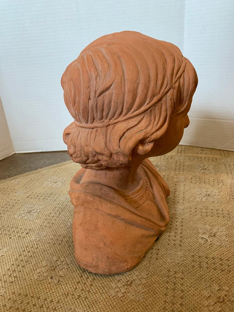 Early 20th Century Terracotta Bust of Child For Sale 5