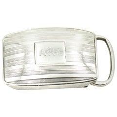 Early 20th Century Tiffany & Co. Sterling Silver Belt Buckle