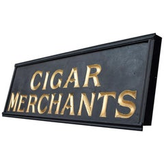 Early 20th Century Tobacconist Gold Gilt Framed Advertising Trade Sign