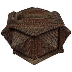 Early 20th Century Tramp Art Box