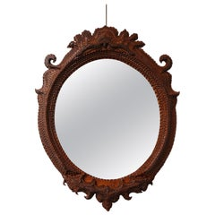 Early 20th Century Tramp Art Mirror