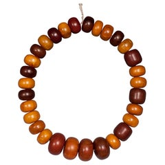 Early 20th Century Tribal Bakelite Amber Beads from Africa
