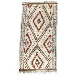 Early 20th Century Tribal Moroccan Beni Ouarain Rug