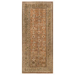 Early 20th Century Turkish Oushak Beige, Camel, Brown & Ivory Handmade Wool Rug