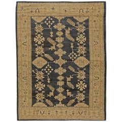 Early 20th Century Turkish Oushak Handmade Rug