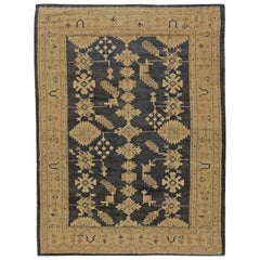 Early 20th Century Turkish Oushak Handmade Rug