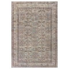 Early 20th Century Turkish Sivas Sand Handmade Wool Rug