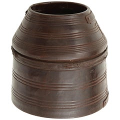 Early 20th Century Turned Wooden Vase