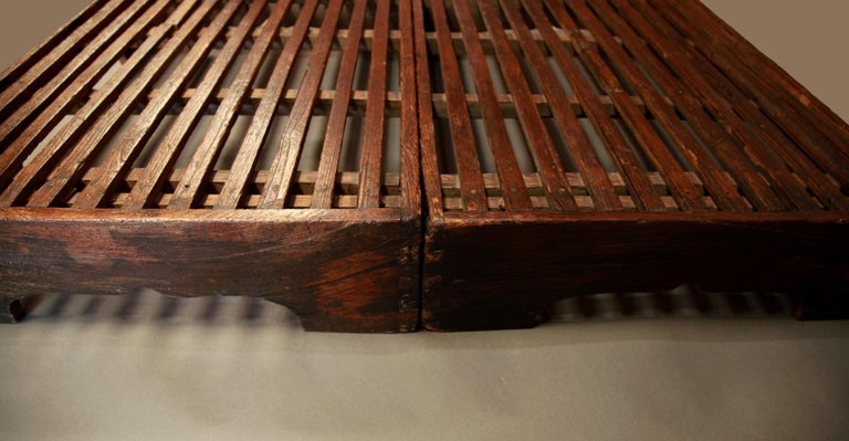 Early 20th Century Two-Piece Korean Summer Wooden Bed For Sale 2