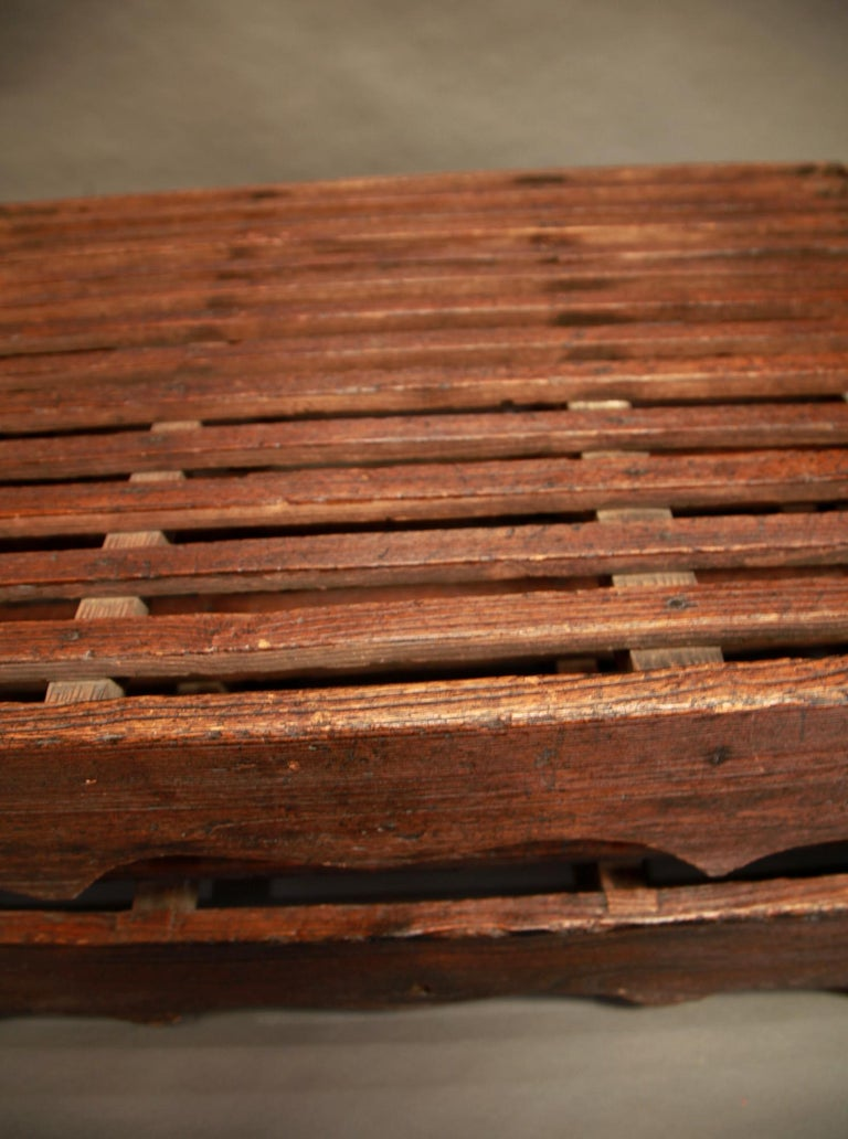 Early 20th Century Two-Piece Korean Summer Wooden Bed For Sale 3