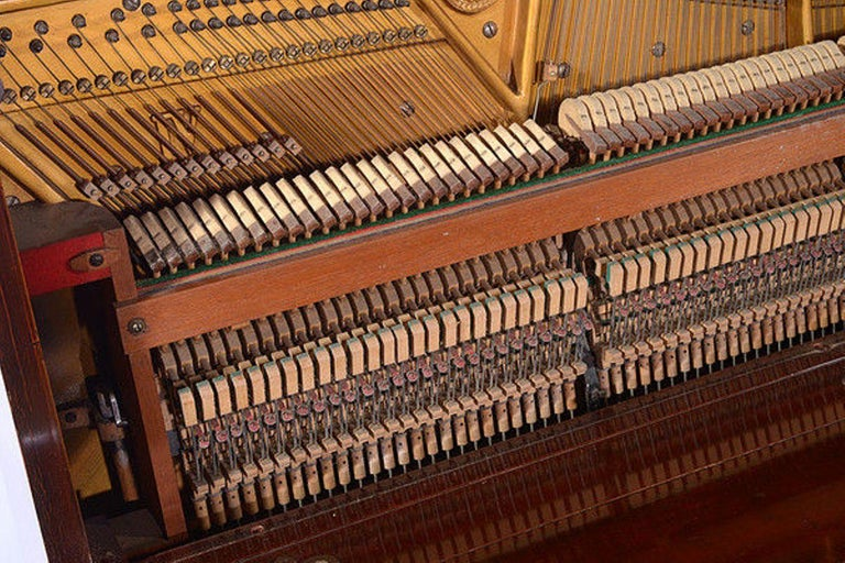 Early 20th Century Upright Piano Manufactured by C. Bechstein For Sale 4