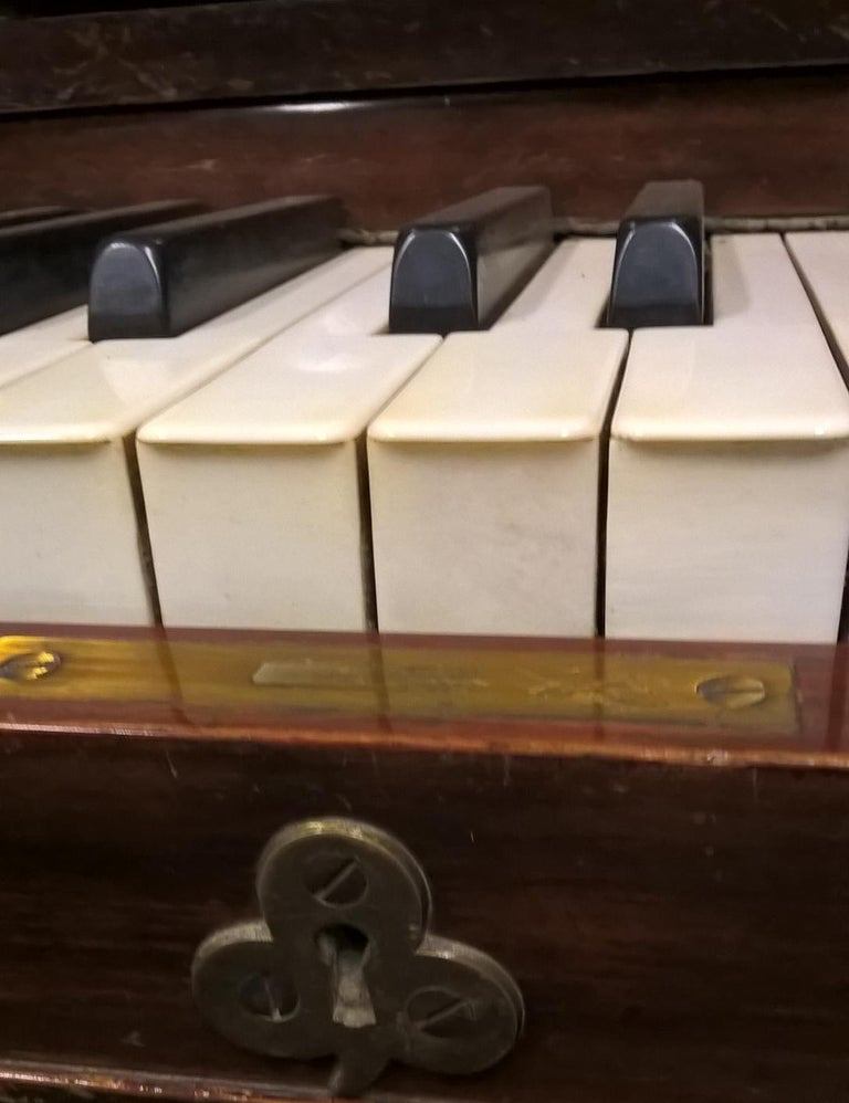 Early 20th Century Upright Piano Manufactured by C. Bechstein For Sale 6