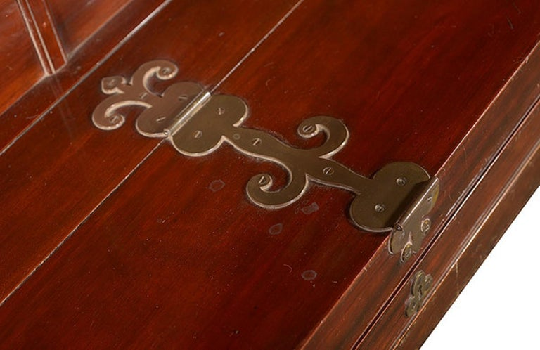An early 20th century mahogany framed piano manufactured by C. Bechstein.  The brass plate to the lid engraved with blackened letters stating