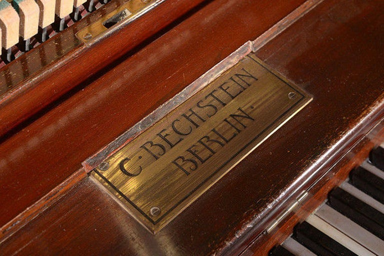 Arts and Crafts Early 20th Century Upright Piano Manufactured by C. Bechstein For Sale