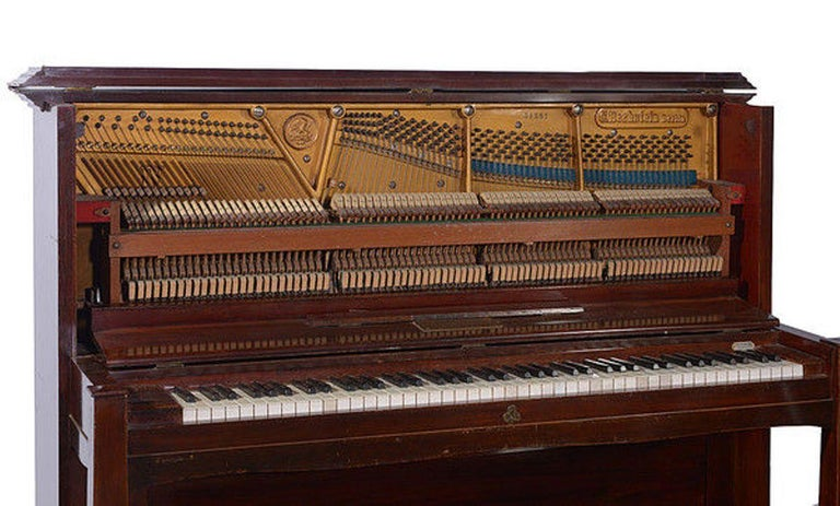 German Early 20th Century Upright Piano Manufactured by C. Bechstein For Sale