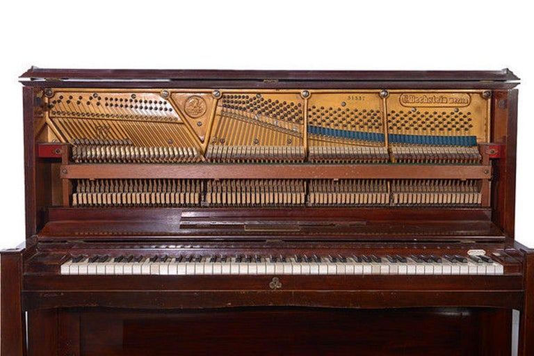 Early 20th Century Upright Piano Manufactured by C. Bechstein In Good Condition For Sale In Hemel Hempstead, Hertfordshire