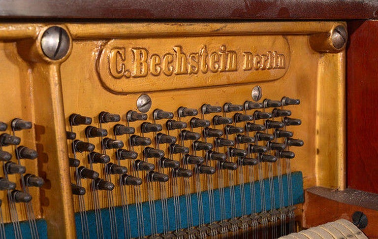 Mahogany Early 20th Century Upright Piano Manufactured by C. Bechstein For Sale