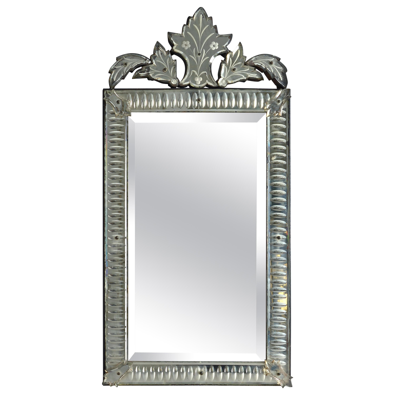 Early 20th Century Venetian Cut Glass Mirror