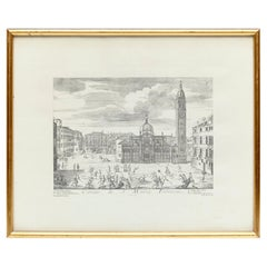 Early 20th Century Venice Print in Black and White