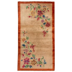 Early 20th Century Vintage Chinese Art Deco Wool Rug