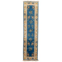 Early 20th Century Vintage Chinese Art Deco Wool Runner Rug
