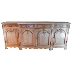 Early 20th Century Vintage French Console in Solid Oak