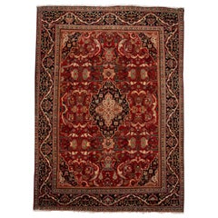 Early 20th Century Vintage Persian Mahal Rug