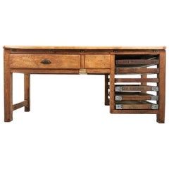 Early 20th Century Vintage Scottish Bakers Bench Work Table