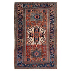Early 20th Century Vintage Serapi Wool Rug