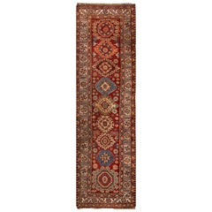 Early 20th Century Vintage Serapi Wool Runner Rug