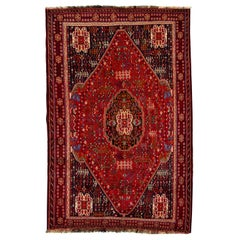 Early 20th Century Vintage Shiraz Wool Rug