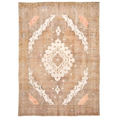 Early 20th Century Vintage Tabriz Wool Rug