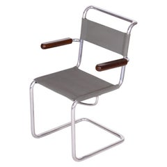 Early 20th Century Vintage Tubular Chrome Bauhaus Chair by Hynek Gottwald, 1930s