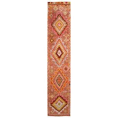 Early 20th Century Vintage Turkish Wool Runner Rug