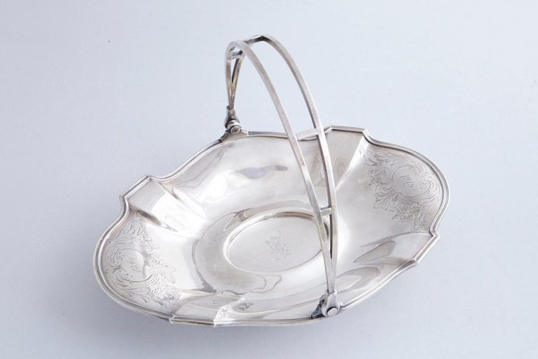 Early 20th Century Wallace Brothers Silver Plated Basket, 1915 For Sale 9