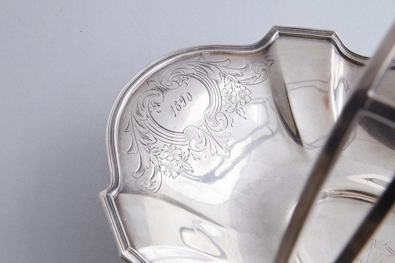 Early 20th Century Wallace Brothers Silver Plated Basket, 1915 For Sale 2